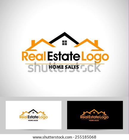 Real Estate Logo Design. House Logo Design. Creative Real Estate Vector Icons  - stock vector