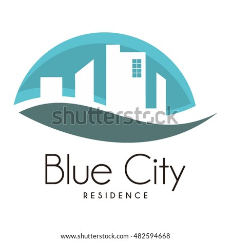 Real Estate Logo design, icons, symbols, vector, abstract, set, shapes