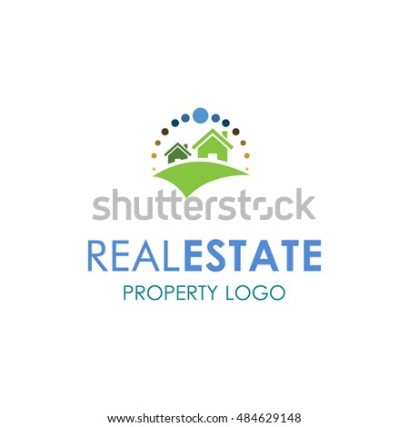 Real Estate Logo design, icons, symbols, vector, abstract, set, shapes, innovative and creative inspiration for business company, template collection, website or any promotion and marketing tools