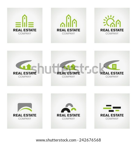 Real Estate logo set and vector icons - Vector Illustration - stock vector