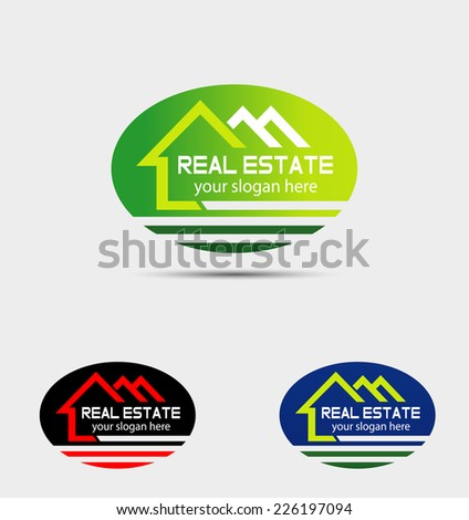 Real Estate Logo Template design - stock vector