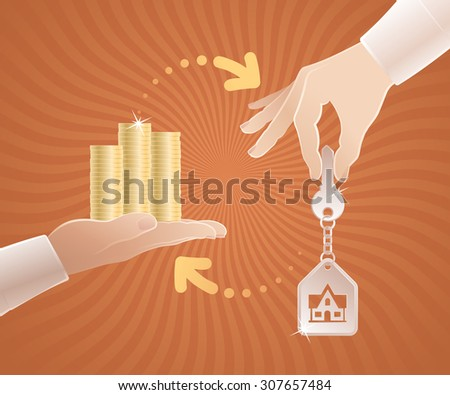 Real Estate Market. Vector illustration on the subject of Real Estate. - stock vector