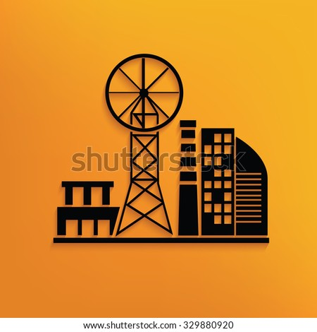 Real estate on yellow background,clean vector