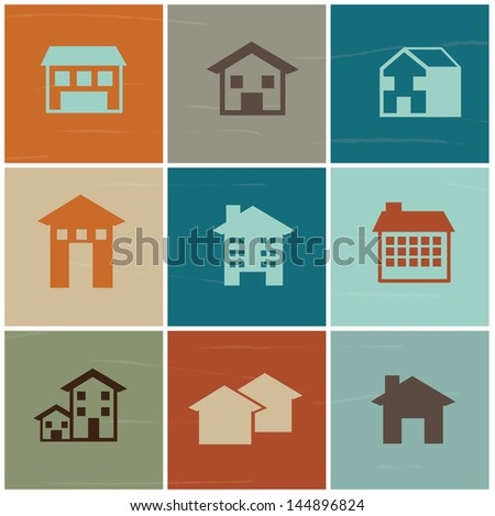 real estate over white background vector illustration - stock vector
