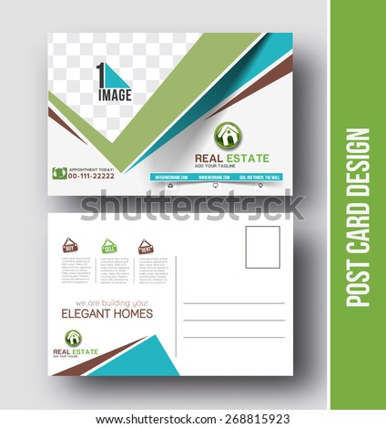 Postcard Template Stock Images, Royalty-Free Images & Vectors