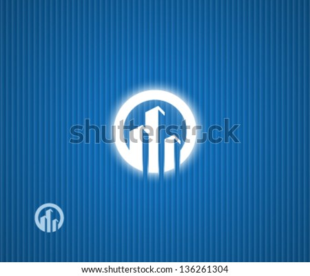 Real estate symbol - stock vector