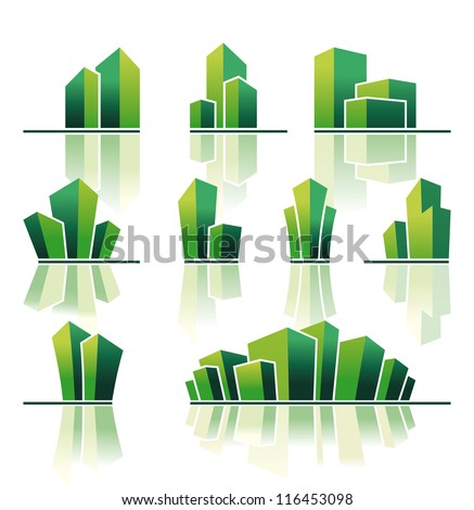 Real estate symbols - stock vector