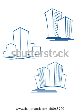 Real estate symbols for design isolated on white - also as emblem. Jpeg version also available in gallery - stock vector