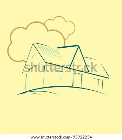 Real estate vector house - stock vector