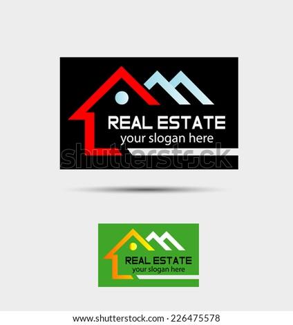 Real Estate vector logo design template. House abstract concept icon  - stock vector