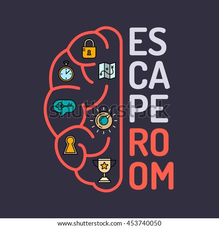 Reallife Room Escape Quest Game Poster Stock Vector 453740050 ...