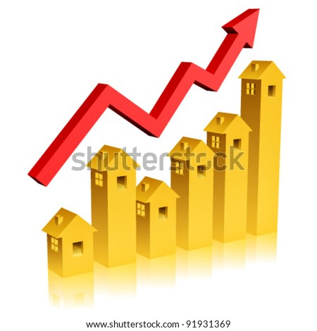 Real State Graph - stock vector
