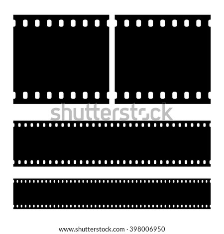 Real vector film strip negative. Insulated windows - you can create variable long straight film strip. Eps 10 vector file.  - stock vector