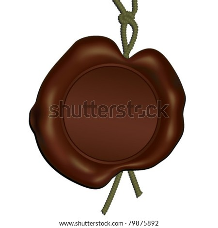 real vector wax seal template - stock vector