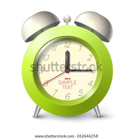 realistic alarm clock - stock vector
