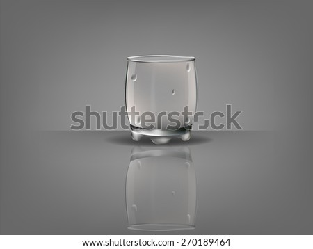 realistic beautiful whiskey glass with transparent water condensation vector - stock vector