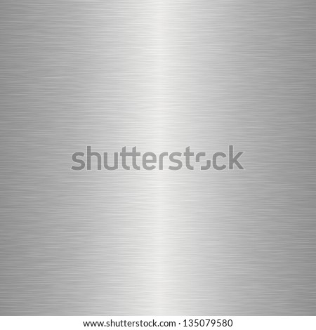 Realistic big seamless texture of metal - stock vector