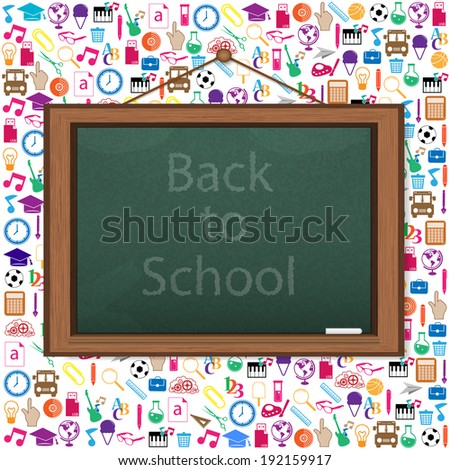 Realistic blackboard of Back to School children background