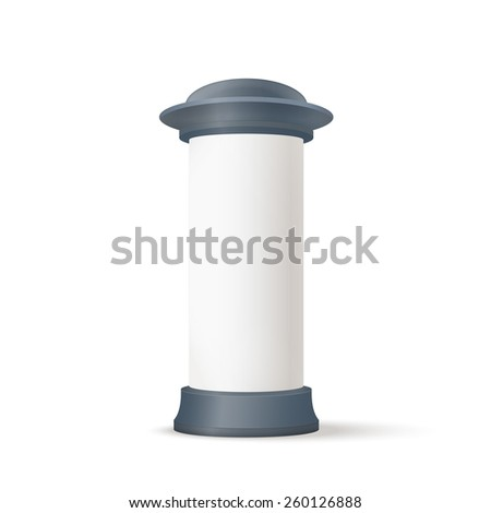 Realistic Blank Advertising column - stock vector