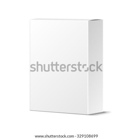 Realistic Blank White Product Package Box Stock Vector