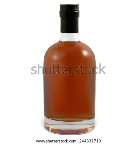 Realistic bottles of cognac.  Illustration contains gradient meshes. - stock vector