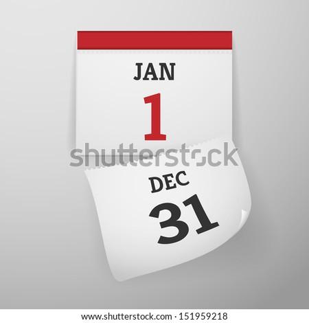 Realistic Calendar Illustration - stock vector