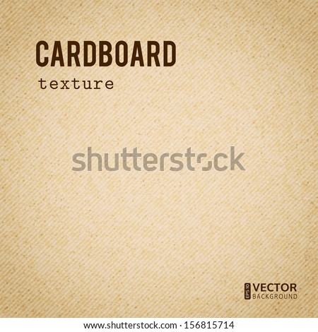 Realistic cardboard beige stained vector texture - stock vector