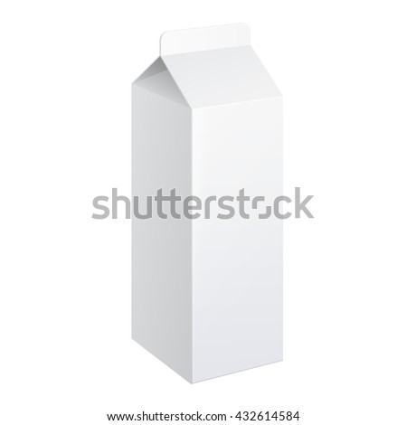 Realistic carton package of milk. vector illustration.