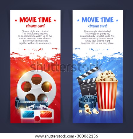 Realistic Cinema Movie Poster Template Film Stock Photo Photo