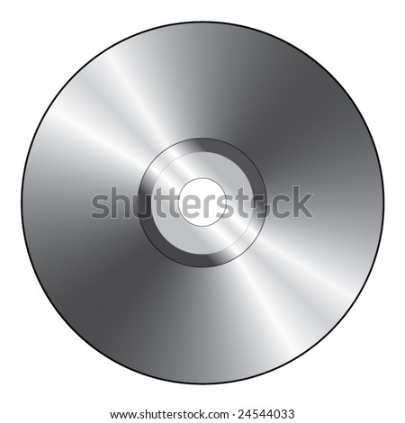 Realistic compact disc - stock vector