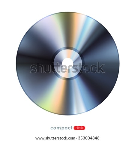 realistic compact disc, eps10 vector illustration - stock vector