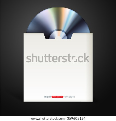 realistic compact disc with cover, eps10 vector illustration - stock vector