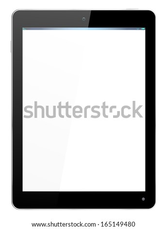 Realistic computer tablet - vector layered grouped and with a separate layer to easily add your own image to screen