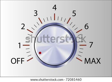 Realistic control knob with marks - stock vector