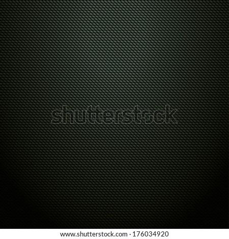 Realistic dark green carbon background, texture. Vector illustration - stock vector