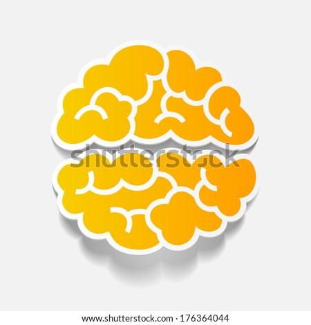 realistic design element: brain. Vector Illustration - stock vector