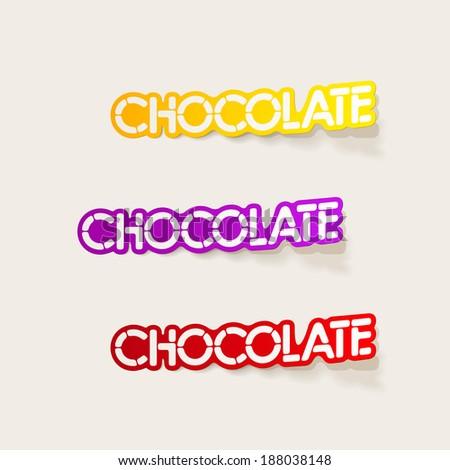 realistic design element: chocolate - stock vector
