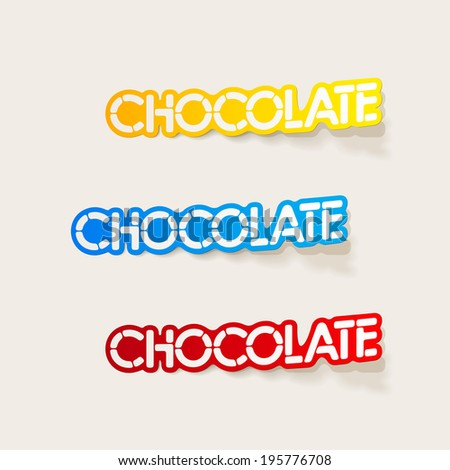 realistic design element: chocolate - stock vector