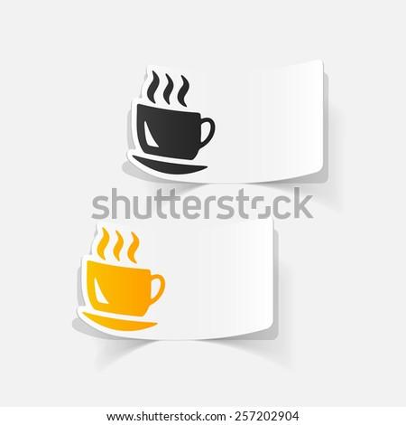 realistic design element: coffee - stock vector