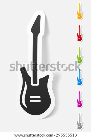 realistic design element. electric guitar