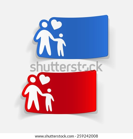 realistic design element: family - stock vector