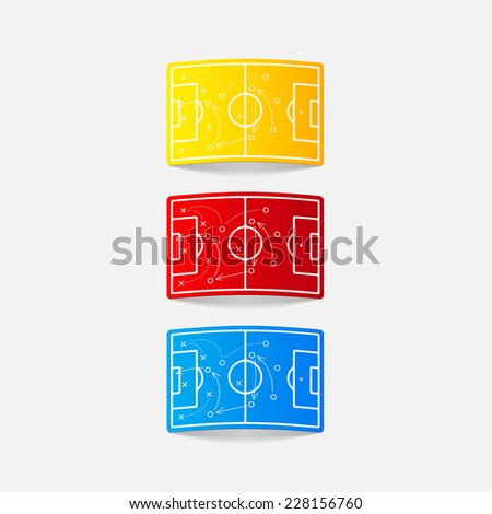 realistic design element: playing field - stock vector