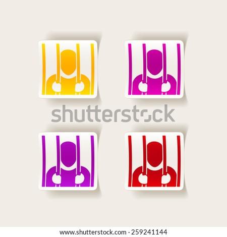 realistic design element. prisoner - stock vector