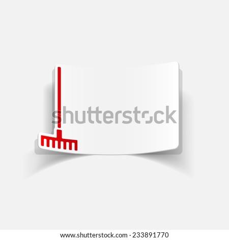 realistic design element: rake - stock vector