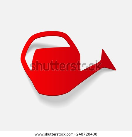 realistic design element: watering can - stock vector