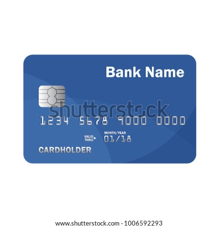 Realistic detailed credit or debit card. Online payment. Cash withdrawal. Financial operations. Vector illustration. Isolated