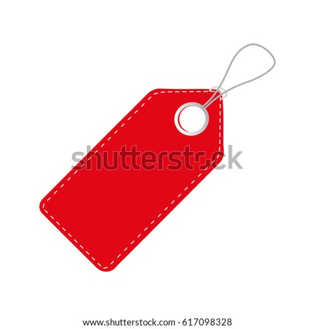 Realistic Discount Red Tag Sale Promotion Stock Vector