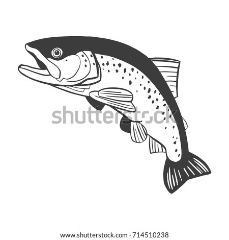 Cartoon vector gray scale illustration fish stock vector for Fish out of water menu