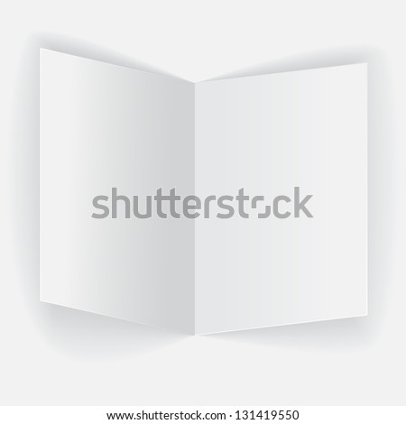 Realistic folded paper sheet on white background - stock vector