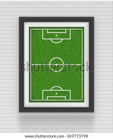 Realistic frame. Soccer concept. Element for your design. Vector illustration eps10 - stock vector